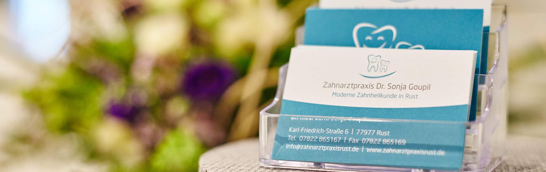 Zahnarztpraxis Dr. Sonja Goupil - Datenschutzerklärung 1